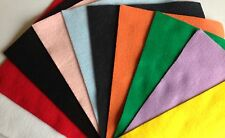 "5 SHEETS 9"" x 12"" KUNIN POLYESTER ECO-FI FELT RED, PINK, WHITE, BLACK, GREEN ETC"
