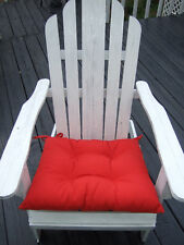 """Adirondack Chair Tufted Cushion with Ties - 20"""" X 18"""" - Choose solid colors"""