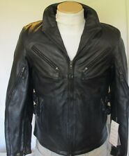 Womens Xelement Armored Vented Leather Motorcycle Biker Jacket Z/O lining Sizes