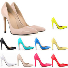 Hot Cheap Womens Ladies Patent High Heels Pointed Toe Corset Prom Court Shoes
