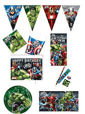 Marvel Avengers Assemble Birthday Party Supplies Tableware Partyware FREE P/P