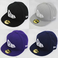 New Era 59fifty Flag Flat Peak Fitted Navy Black Grey Purple Hat Cap