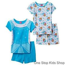 CINDERELLA Girls 4 6 8 Pjs Set Summer PAJAMAS Shirt Shorts DISNEY Princess