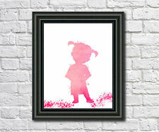 Monsters Inc Boo Fine Art Print Monsters Inc Poster Boo Silhouette
