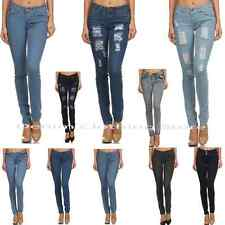 D.Rock Womens Junior Stretch Destroyed Ripped Distressed Slim Skinny Jeans Pants