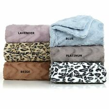Concierge Collection Soft Cozy Faux Fur Plush Warm Wave Bed Blanket NEW
