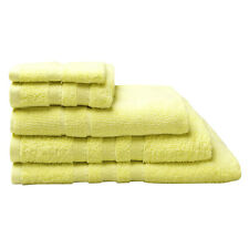Logan & Mason Low Twist 100% Cotton Towels 600gsm Lemongrass Yellow Size Choice