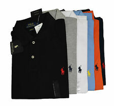 Ralph Lauren Polo Short Sleeve Cotton T-shirt for Men - Small Pony Mesh Polo