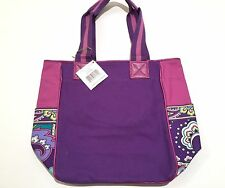 NEW NWT VERA BRADLEY LOLA SMALL COLORBLOCK TOTE PURSE BAG PINK HEATHER $52 GREEN