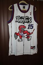 New NBA Toronto Raptors Vince Carter Jersey #15 Throwback Vintage White M-L