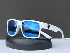 New Khan Mens Womens Vintage Retro Revo Mirrored Wayfarer Sunglasses + Soft Bag