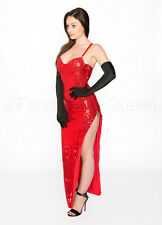 Jessica Rabbit Costume Sequin Dress Fancy Dress Outfit UK Sizes 6/8/10/12/14/16