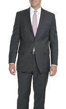 Alfani RED Slim Fit Charcoal Gray Pinstriped Two Button Wool Blend Suit