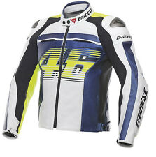 GIACCA MOTO PELLE DAINESE RACING D1 VALENTINO ROSSI VR46