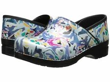 $135 NEW WOMENS DANSKO PROFESSIONAL ABSTRACT PATENT SHOES CLOGS SIZE