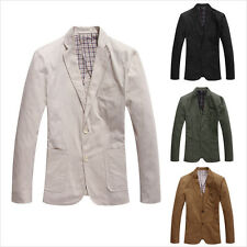 Newest Mens Spring Fashion Blazers Suit Slim Fit Coats Long Sleeves Jackets