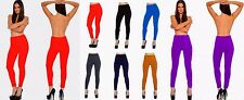 Lot Full Length Opaque Fleece Leggings Tight Pants Winter Footless Warm One Size