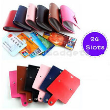 24 Slots Card  Holder Credit Bank IC ID Saving Card Wallet Organizer Case Holder