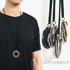Avant Garde Mens Fashion Twisted Circle Steel Necklace 30, GENTLERSHOP
