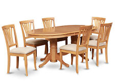 VAAV9-OAK 9 Piece dining room set Dining table with Leaf and 8 dining room chair