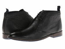 HUSH PUPPIES Mens Style Chukka PL Lace Up Ankle Boots Black Leather HM01046-001