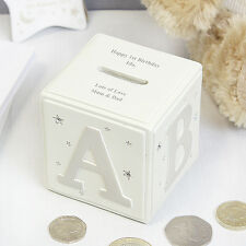 Personalised Twinkle Little Star ABC Moneybox Childrens Baby Gift Girl Boy