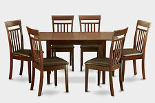 Norfolk 7 Pieces Small dinette set for small spaces -Table and 6 dining chairs