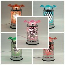 Metal/Glass Design Touch Electric Fragrance Lamp Oil Warmer/burner Night Light