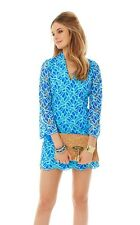 $298 Lilly Pulitzer Bell Sleeve Devina Lace Dress Brewster Blue 00-14 NEW