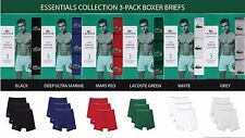 LACOSTE ESSENTIALS COLLECTION 3-PACK SUPIMA COTTON BOXER BRIEFS ASSORTED COLOR