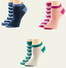 Timberland Women's Chevron No Show 2 Pack Colorful Socks Style #TW473
