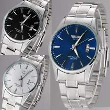 New Design Stainless Steel Band Analog Quartz Sport Men Wrist Watch 3 Colors
