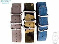 20mm Canvas Watch Strap Band Sports Military Army New Pattern ZULU multicolored