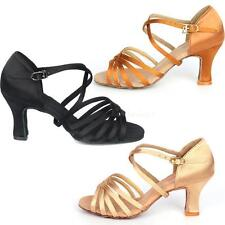 High Heel 7cm Women Latin Modern Ballroom Dancing Tango Salsa Dance Shoes EVHG
