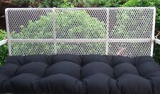 Black Solid Tufted Cushion for Bench ~ Swing ~ Glider, Choose / Select Size