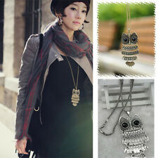 Cute Women Lady Vintage Owl Pendant Long Chain Necklace Jewelry New Fashion