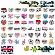 BEST QUALITY Floating Charm For Living Memory Locket *FAMILY BABY HEARTS FRIENDS