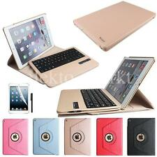 360 Rotating Ipad air 2 leather Bluetooth Keyboard leather Smart Case Cover