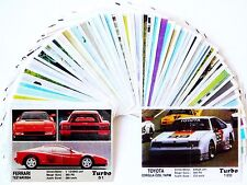 TURBO FULL Complete SET GUM Wrapper CAR Label Insert Cards Collection KENT 90's