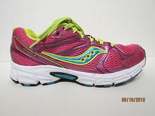 Saucony Grid Cohesion 6 Women's Shoes Hot Pink, Neon Yellow and Blue