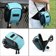 Bike Front Handlebar Bag Pouch Bicycle Pannier Frame Tube Cycling Outdoor Basket
