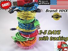 10ft/6ft/3ft Braided 8 Pin USB Charger Cable Cord LOT iPhone 5 5s iphone 6 plus