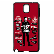 DIY Sherlock Holmes Moriarty For Samsung Note 2/3/4/5 S4 S5 S6 S7 Edge S8+ Case
