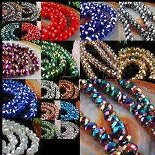5x8mm Multicolor Crystal Faceted Abacus Loose Beads 70pcs WB0065