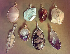 Handmade Healing Crystal Gem Jewelry - Energetically Programmed in Silver & Gold