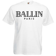 Original Schwarzmarkt Herren T-Shirt BALLIN PARIS; Dope Swag Obey xo Fashion top