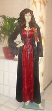 NOBLE GOTHIC WITCH DRESS HOOD MIDDLE AGES LARP VELVET COSTUME Fancy dress witch