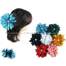 6~12pcs Flower Dots Jaw Hair Clip Claw Double Sided Style Petals  Lot Wholesale