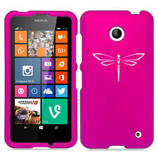 For Nokia Lumia 630 635 Rubber Hard Shockproof Case Cover Dragonfly