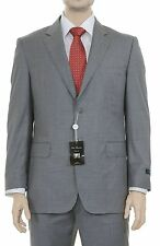 Silvio Bresciani Regular Fit Heather Gray Two Button Wool Suit Made in Italy